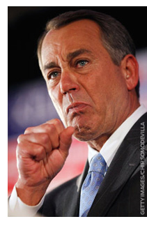 House of Representatives Speaker John Boehner