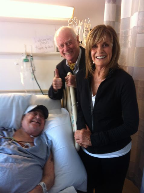 Barton Lidice Benes with Larry Hagman and Linda Gray